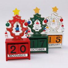 Wooden Advent Calendar Count Down To Christmas Santa Decoration Ornaments Kids