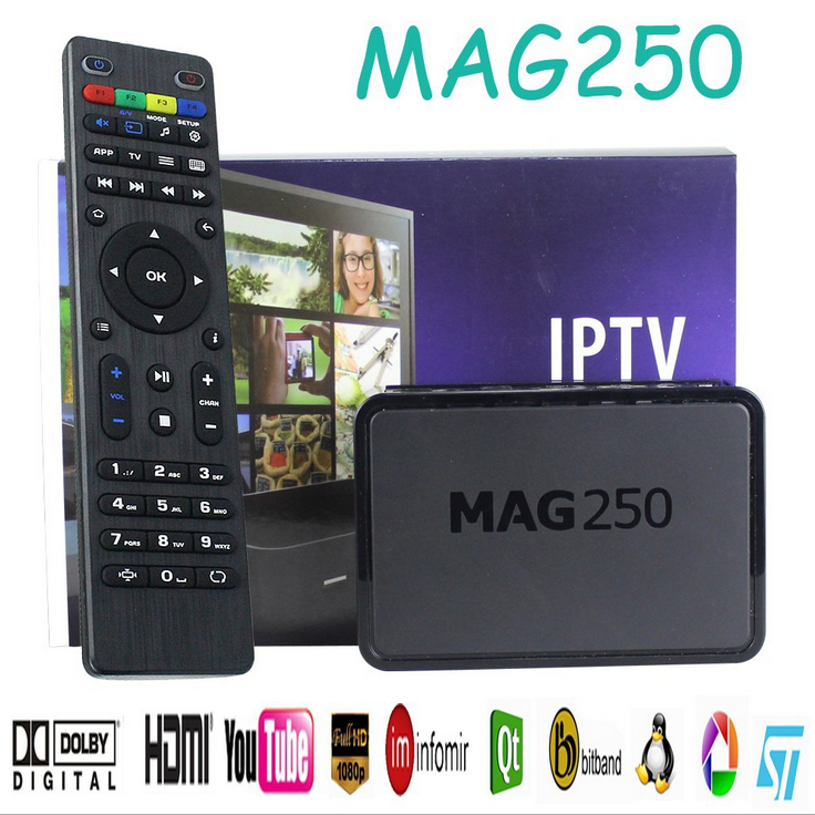 Android 5.1 MAG 250 IPTV SET TOP BOX Multimedia Player Internet TV IP Receiver