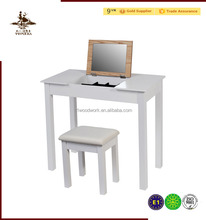 2017 hot seller wooden modern dressing table modern dressing table with mirrors