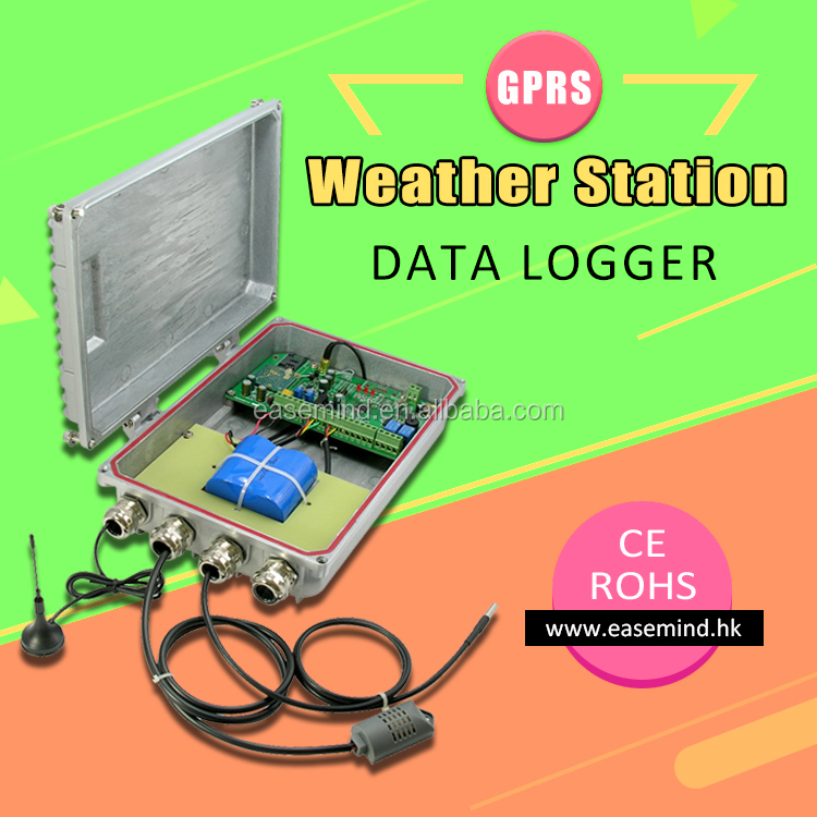 GPRS Weather Station Data Logger offer Free Software gsm alarm system