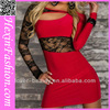 New Arrival Red Lace Long Sleeve Sexy Club Party Dresses