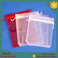 13*16 organza drawstring gift bag jewelry pouch for wholesale wedding 100pieces one bag