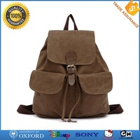 China Wholesale New Design School Bag Travelling Backpack Canvas Fabric Bag