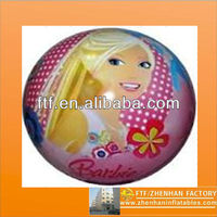FBE6019M beautiful pvc 45cm inflatable girl beach ball