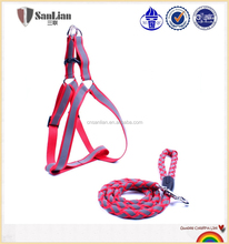 The red hot-sale shining rope and dog harness wholesale rope leash