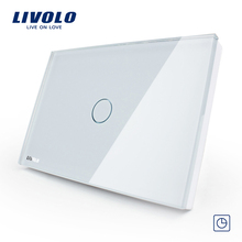 30s Timer Delay Switch US/AU standard LIVOLO Touch Switch 1gang Touch Screen livolo electric waterproof switch VL-C301T-81