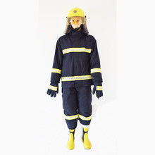 Navy blue Flame resistant Comfortable Fireman uniform for fire man