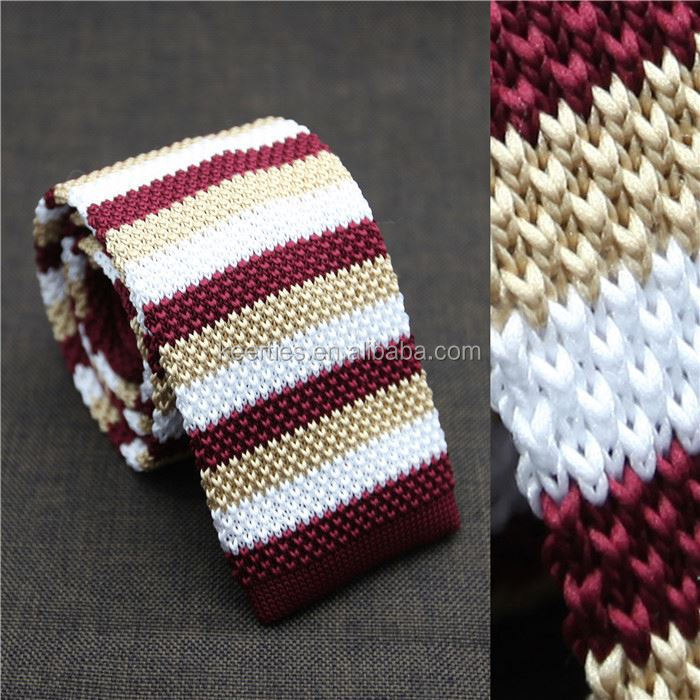 World Necktie Factory fancy pattern Luxury man silk tie Knit Tie Knitting Necktie