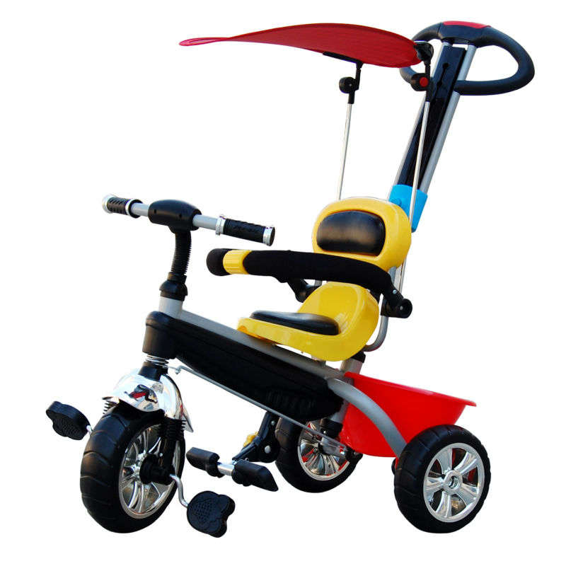push bar three wheels riding toys children trike smart tricycle