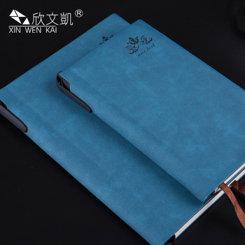 Promotional Custom Logo Paper Back A6 A5 PU Leather Notebook With Pen