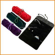 Assorted velvet jewelry roll pouch