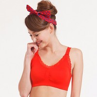 Bellewear Sexy woman wireless sport bra with back hook-and-eye closures (4color bra sets)