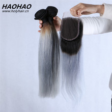 New Arrival Grey Remy Human Hair Weave ,100Percent Indian Remy Human Hair,Body Wave Remy Human Hair