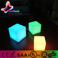 PowerBeauty new led quare color changing and glowing led light cube clock