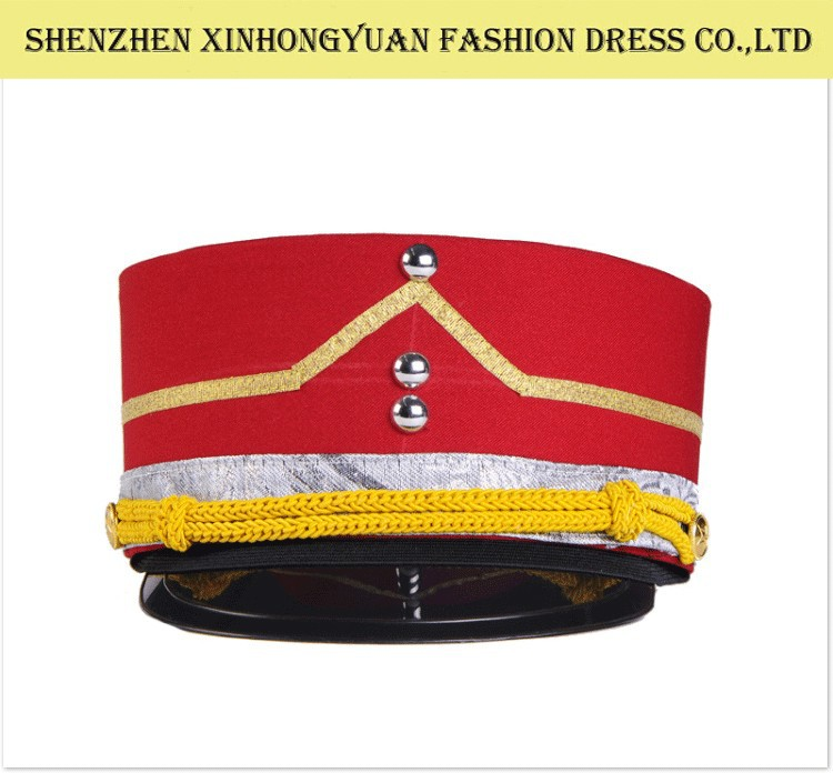 The band uniform cap , hotel door boy cap , caps and hats wholesale