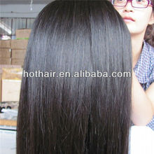 100% Peruvian virgin human Hair remy human hair extension Straight hair made in China