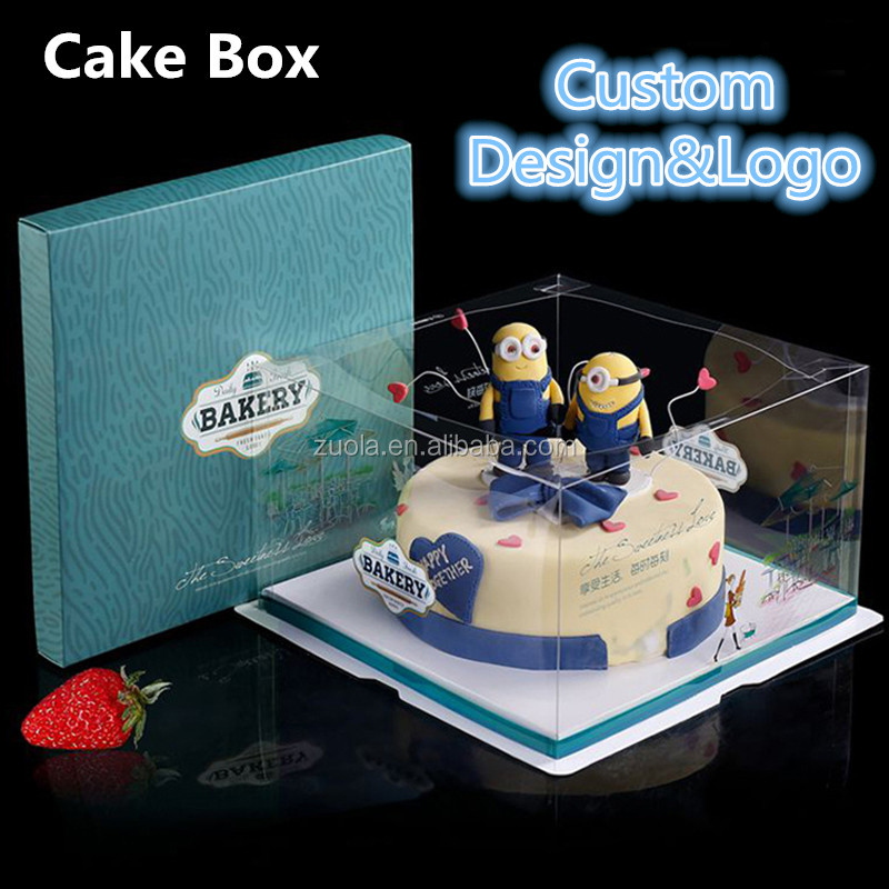 High quality boxes cake transparent cake packaging boxes paper cake box