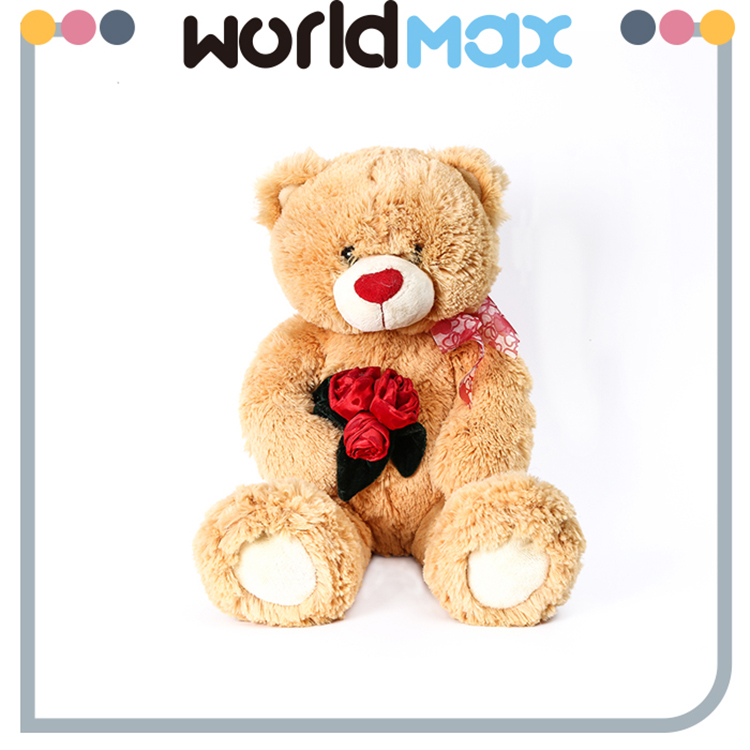 New Products And Happy Rose Bear Lovely Baby Stuffed Toy