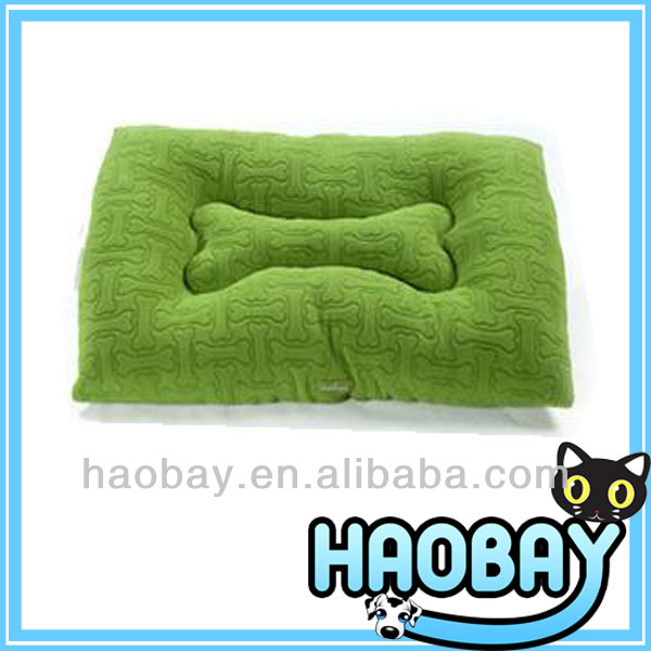 Green Soft Decorative Pet Dog Beds Dog Cushion With Bone Pattern Middle