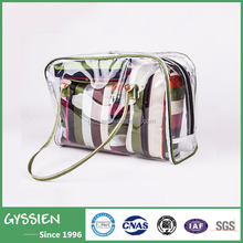 Wholesale popular PVC Micro- fiber cosmetic bag with zipper