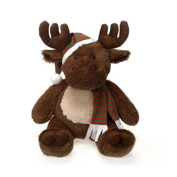 Christmas gifts plush stuffed reindeer with scarf