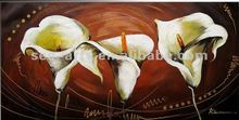New designed fabric flower painting designs/ famous artist