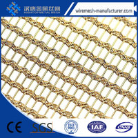 decorative metal mesh drapery/stainless steel decorative wire mesh/honeycomb decorative wire mesh