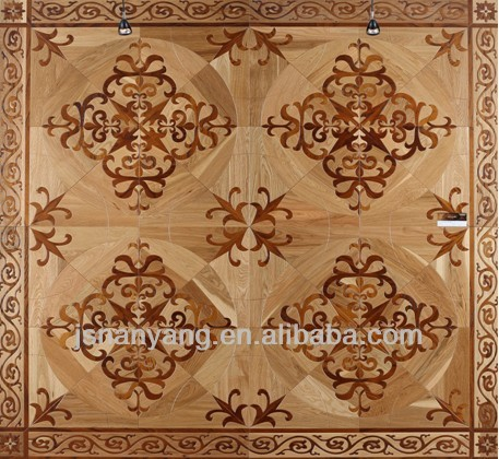 Carbonized Chinese Toon and oak art parquet flooring