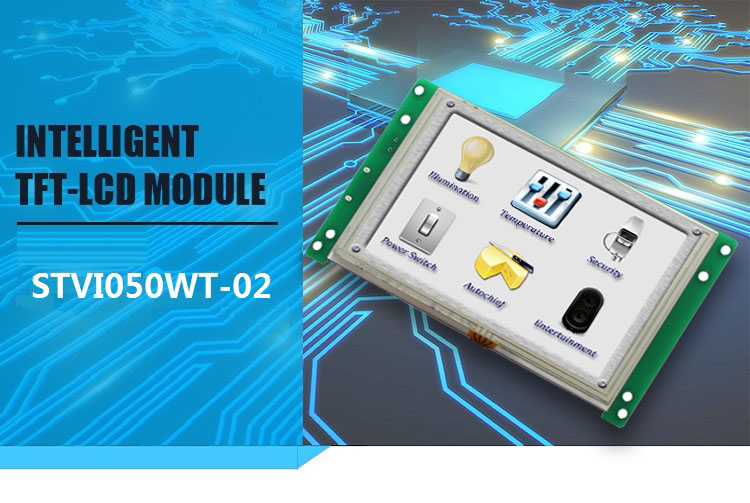 Industry Small LCD Programmable Touch Screen Module RS232 Display