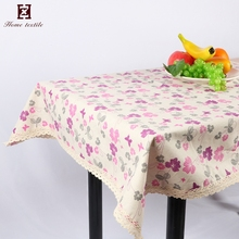 Wholesale cheap Linen decorative table covers sheet print outdoor lace tablecloths