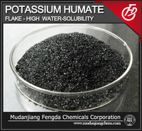 Low price! Potassium humate flake high water solubility