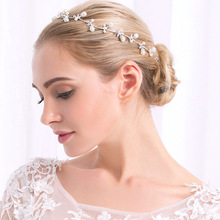 Fashion White Metal Bride Wedding Jewelry Hair Accessories Pearl <strong>Headbands</strong>