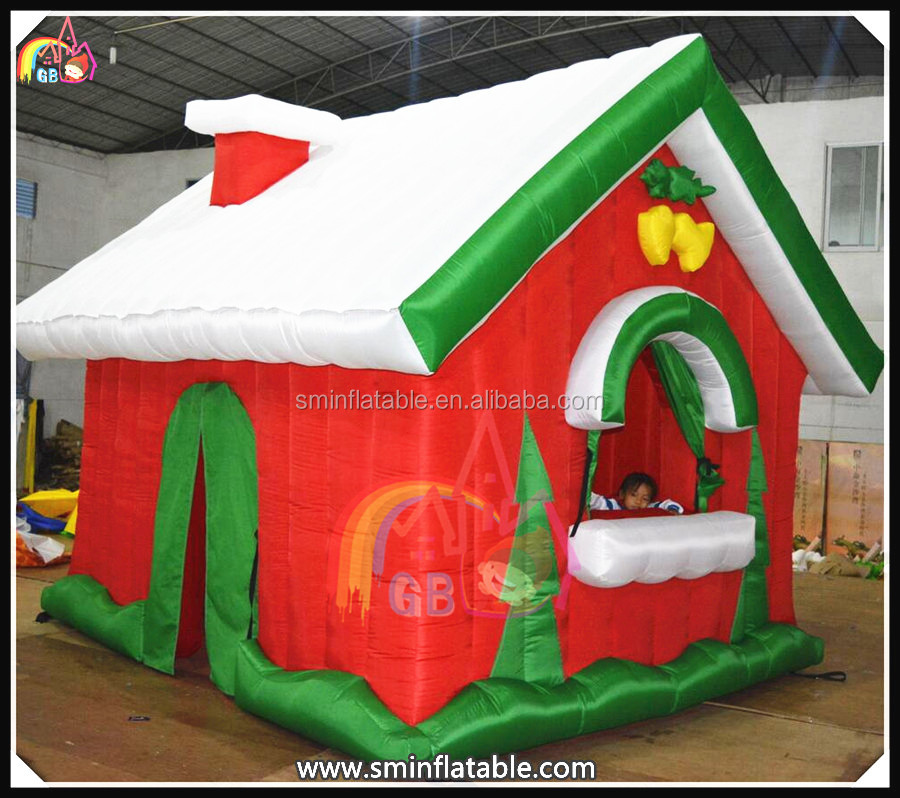 Beautiful inflatable christmas house,inflatable yard decorations cabin,santa christmas inflatable decoration