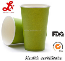 PLA lined paper cups cold drink disposable cups coffee to go hot cups