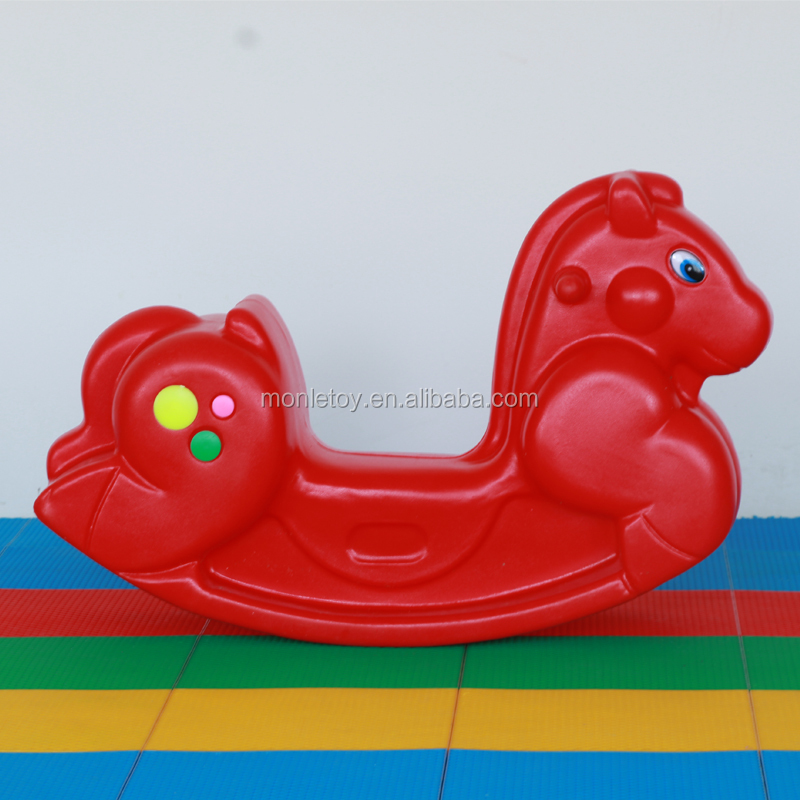 Promotional products kids toy colorful ride on rocking horse
