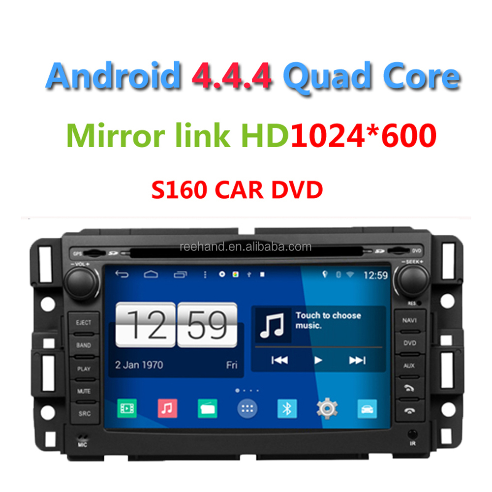 S160 Android 4.4.4 Car DVD player for Chevrolet Avalanche Express Silverado Suburban Tahoe Traverse Acadia Savana Yukon Enclave