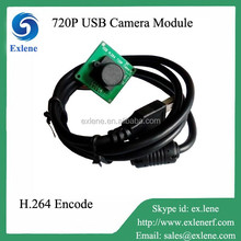 USB hd mini camera module 720p with H.264 and MJPET output