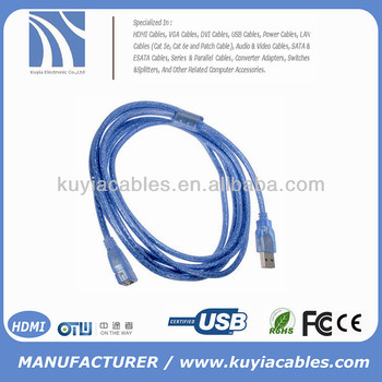 3M USB 2.0 A Male M to A Female F USB Extension Cable 10FT blue -Copper