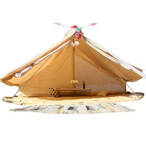 Glamping Luxury 4m 5m Canvas Tipi Camping Sahara Bell Tent with innter tent