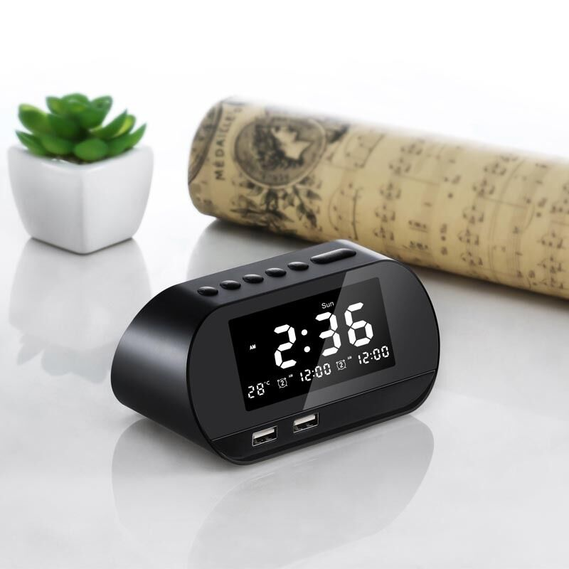 Ganxin Factory  Supply Creative Products Alarm Clock Radio Led Modern Alarm Clock Radio