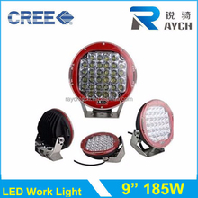 High power 185W LED Car work light for Jeep SUV Tractor, High lumen auto work lamp