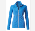 High quality custom made Womens Active Long Sleeve High Neck full Zip Up Micro Fleece Jacket wholesale made in China