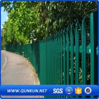 Powder Coated Steel Tubular Fence Decorative Metal Palisade Fencing
