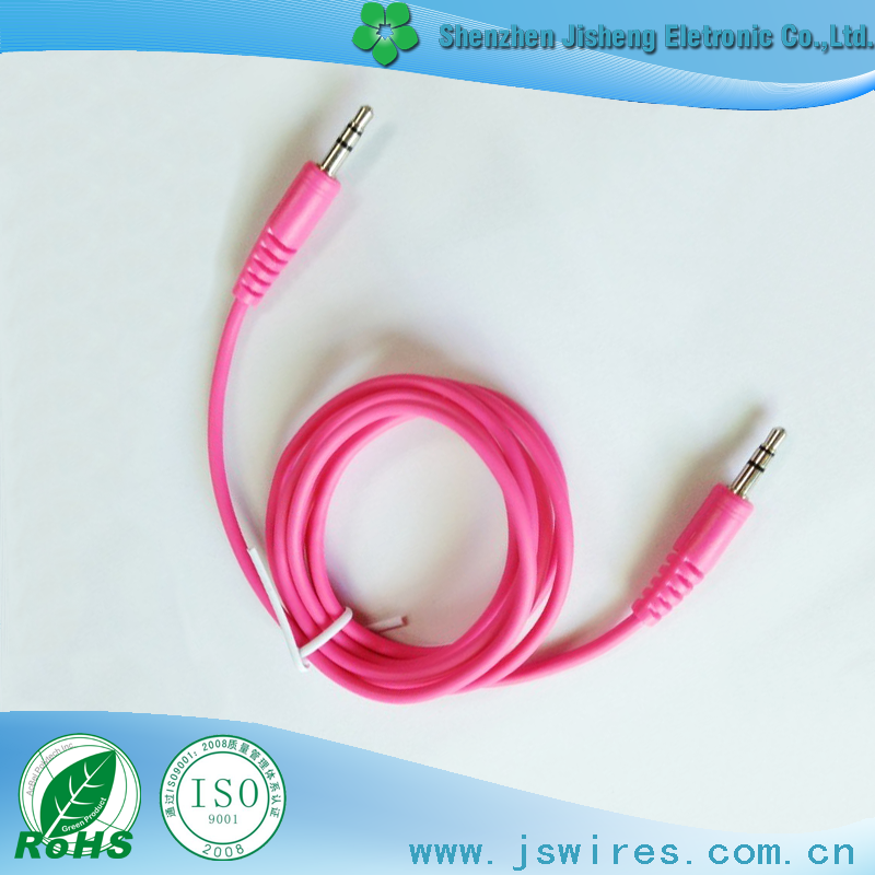 Colorful Stereo Male to Male plug Auxiliary Stereo Cable For Headphone/Aux/MP3/iPod