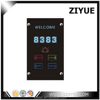 wire room number LCD screen display plates Silver white gold color