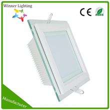 indoor square glass lamp cover 160*160mm 12W led downlight with CE and ROHS