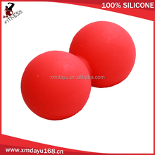 Double ball design silicone peanut massage ball with small qty wholesale