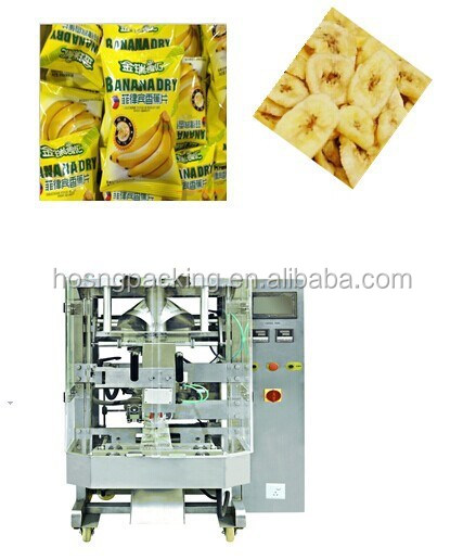 automatic banana chips snack packing machine