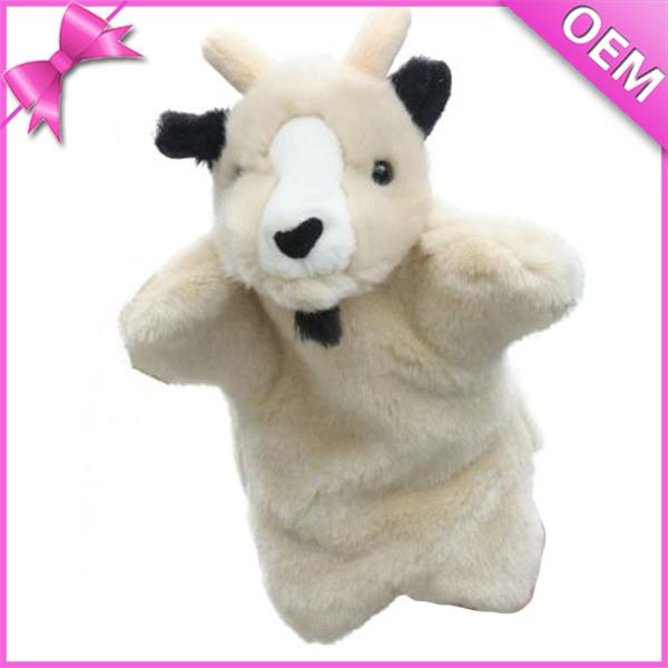 Wholesale Plush Hand Puppet Animal Goat Plush Hand Puppet