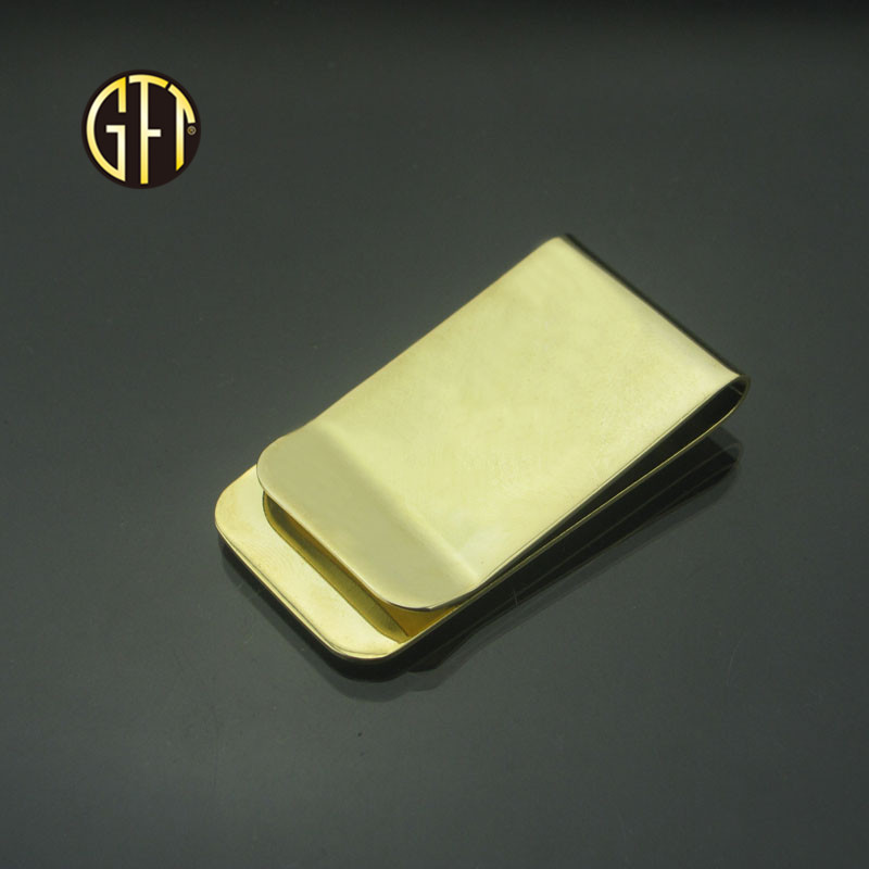 New trend in 2018 New product custom Luxury gold mens wallet money clip Blank metal money clip